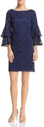 Eliza J Bell-Sleeve Lace Dress