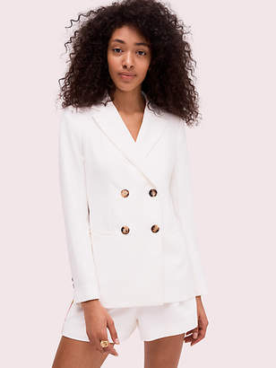 Kate Spade Fluid Suiting Blazer, French Cream - Size 0