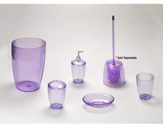 Carnation Home Fashions Magenta, Ribbed 5 Piece Acrylic Bath Accessory Set