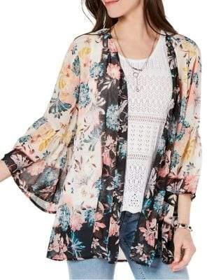 Style&Co. Style & Co. Floral Flutter Kimono