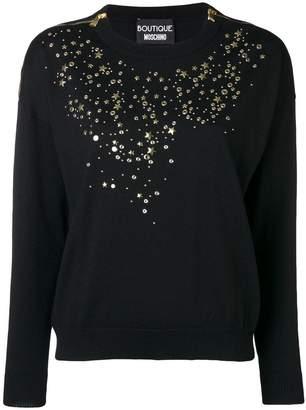 Moschino star studded sweater