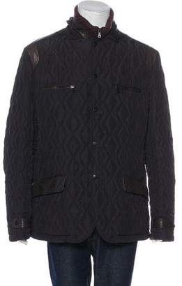 Etro Leather-Trimmed Quilted Jacket