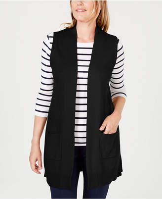 Karen Scott Petite Open-Front Vest