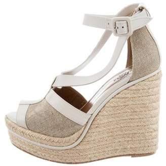 Hermes Espadrille Wedge Heels