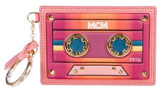 MCM Logo Cassette Leather Luggage Tag