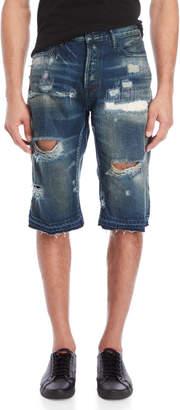 PRPS Ladybird Distressed Denim Shorts