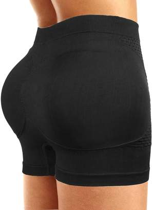 Ceesy Womens Padded Butt Lifter Boy Shorts Shapewear Butt Enhancer Control Panties