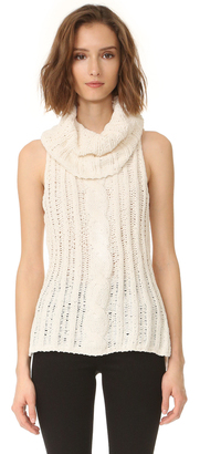 BB Dakota Tenbrook Cowl Neck Cable Vest $85 thestylecure.com