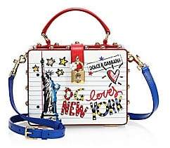 Dolce & Gabbana Dolce& Gabbana Dolce& Gabbana Women's Statue of Liberty Graphic Leather Crossbody Bag