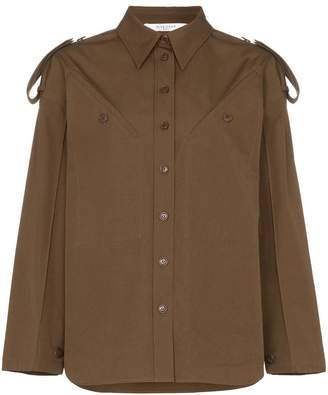 Givenchy diagonal pocket cotton military shirt