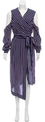 Nicholas Pinstripe Wrap Dress w/ Tags