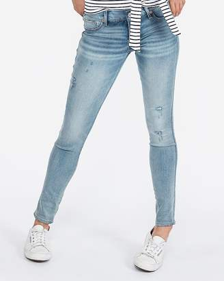 Express Low Rise Extreme Stretch Ripped Jean Leggings