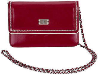 One Kings Lane Vintage Chanel Burgundy Wallet on Chain - Vintage Lux
