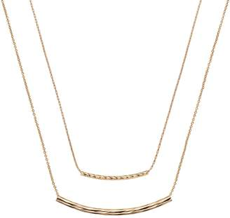 LC Lauren Conrad Curved Bar Link Double Strand Necklace $16 thestylecure.com