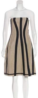 Dolce & Gabbana Strapless Linen Dress w/ Tags