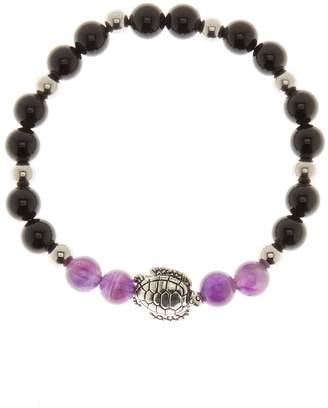 Jean Claude Shiny Black & Purple Agate Bracelet