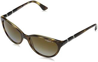 Vogue Women's Injected Woman Sunglass 0vo2894sb Polarized Oval