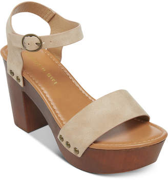 eebdd1882 at Macy's · Madden-Girl Lift Wooden Platform Sandals