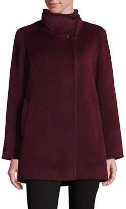 Cinzia Rocca Women's Llama and Wool Funnelneck Coat