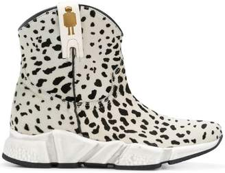 Texas Robot animal print ankle boots