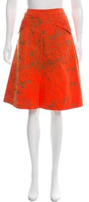 Philosophy di Alberta Ferretti Printed Knee- Length Skirt