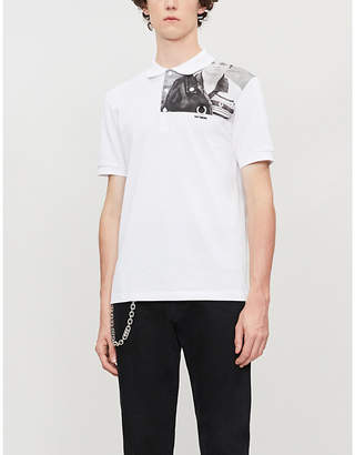 Fred Perry printed cotton polo shirt