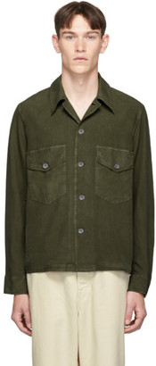 Our Legacy Green Silk Chamois Shirt