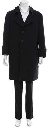 Armani Collezioni Wool-Blend Car Coat