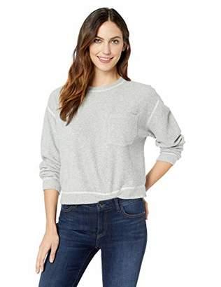 Three Dots Women's OC2800 Cozy Fleece Reversible Sweatshirt