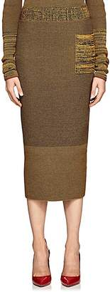 Victoria Beckham Women's Compact Knit Cotton-Blend Pencil Skirt - Amber-Navy