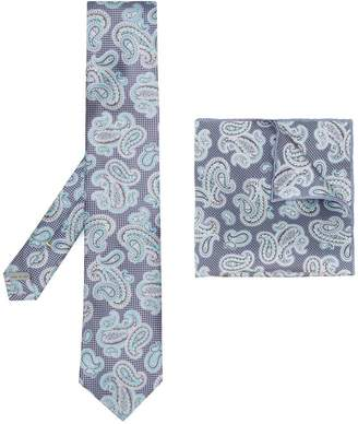 Canali paisley print tie set