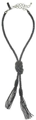 Oscar de la Renta Long Tassel Lariat Necklace