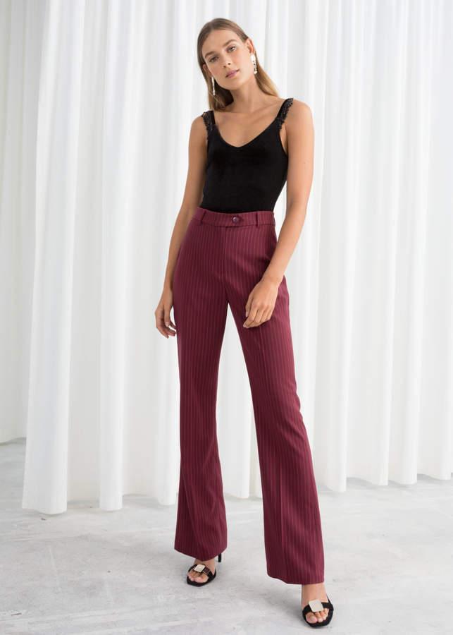 Kick Flare Pinstripe Trousers