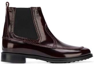 Tod's punch-hole detail boots
