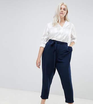 Asos DESIGN Curve woven peg pants with obi tie