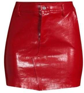 RtA Callie Leather Bodycon Mini Skirt