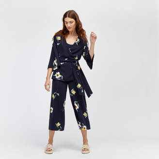 Warehouse Buttercup Printed Culottes