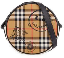 Burberry Girls' Round Vintage Check & Cartoon-Print Crossbody Bag