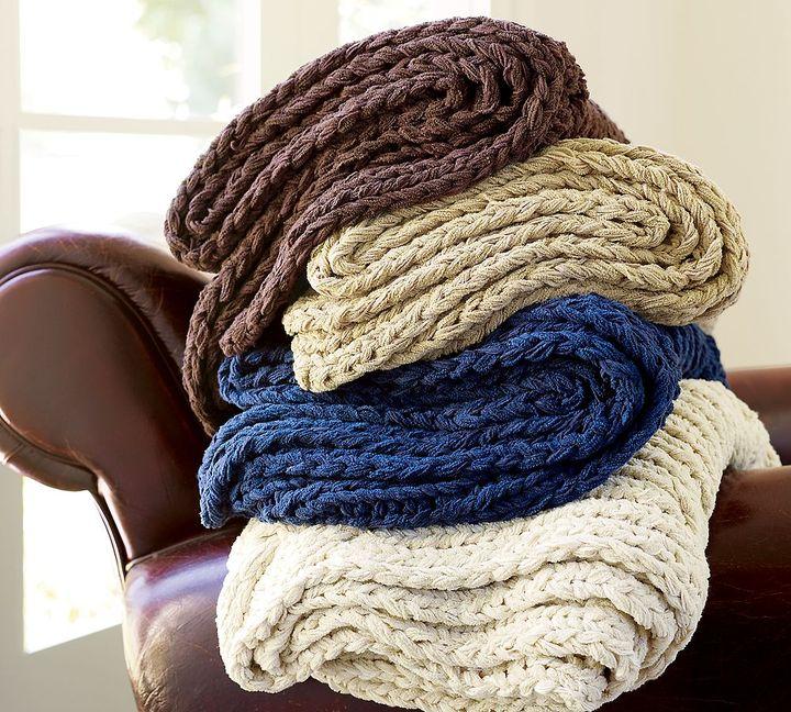 Chunky Hand-Knit Throw