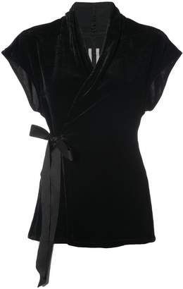 Rick Owens belted wrap top