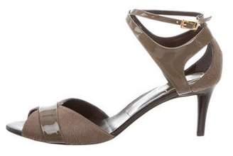 Roger Vivier Ponyhair Crossover Sandals