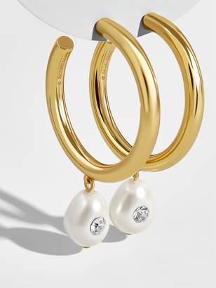 BaubleBar Devon Pearl Hoop Earrings