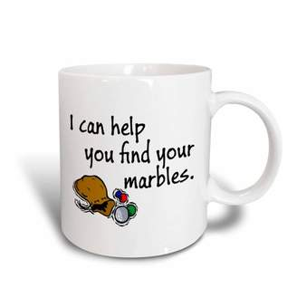 3dRose I can help you find your marbles., Ceramic Mug, 11-ounce