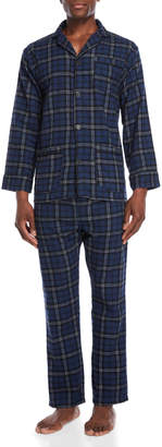 Bottoms Out Two-Piece Navy Pajama Shirt & Pant Set