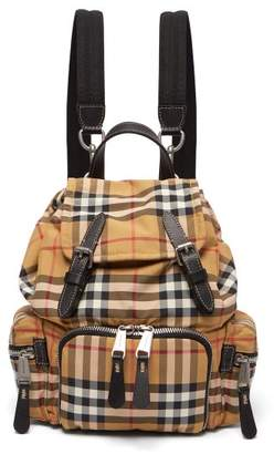Burberry Vintage Check Mini Canvas Backpack - Womens - Brown Multi