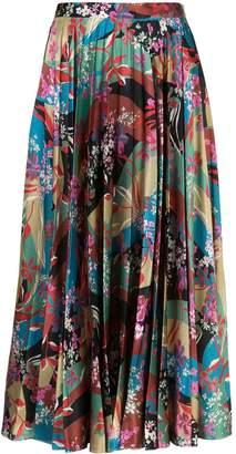 Sachin + Babi floral print pleated skirt