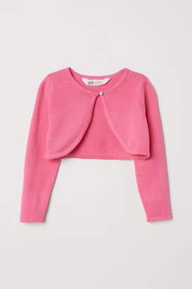 H&M Fine-knit Bolero - Pink