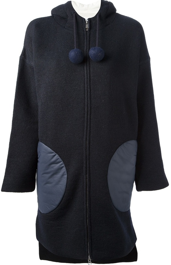 Tsumori Chisato Cats By hooded wool coat