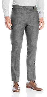 Louis Raphael Luxe Men's Slim Fit Flat Front Wool Pattern Dress Pant