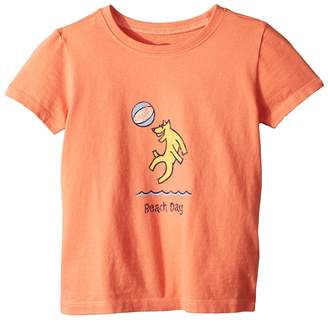 Life is Good Beach Day Crusher Tee Kid's Clothing